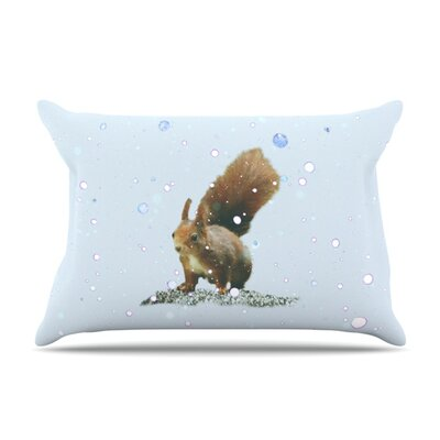 Squirrel by Monika Strigel Featherweight Pillow Sham Size: Queen, Fabric: Woven Polyester