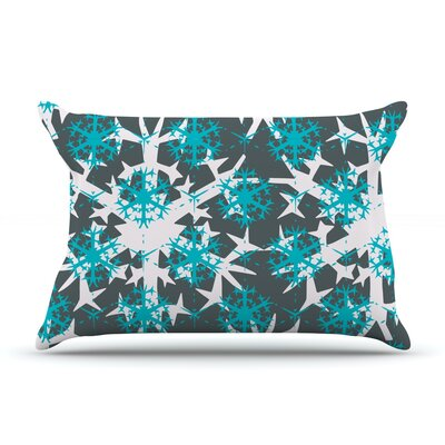 Tree Snow Flakes by Miranda Mol Featherweight Pillow Sham Size: King, Fabric: Woven Polyester