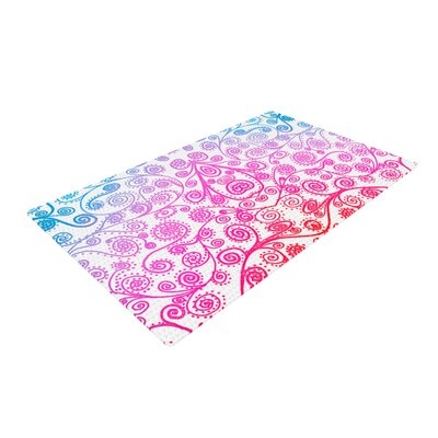 Monika Strigel Safe and Sound Pink/Blue Area Rug Rug Size: 4 x 6