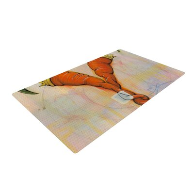 Matthew Reid Never to Forget Orange Area Rug Rug Size: 4 x 6