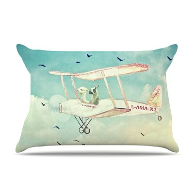 Never Stop Exploring II by Monika Strigel Featherweight Pillow Sham Size: Queen, Fabric: Woven Polyester