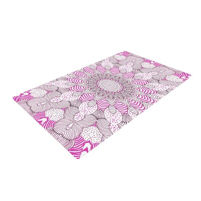 Monika Strigel Dots and Stripes Pink Area Rug Rug Size: 2 x 3