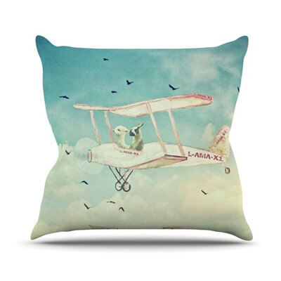 Never Stop Exploring II Throw Pillow Size: 16 H x 16 W