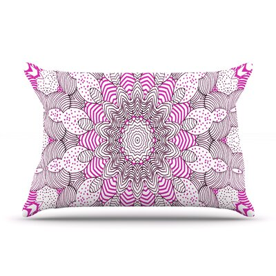 Dots and Stripes by Monika Strigel Featherweight Pillow Sham Color: Pink, Size: King, Fabric: Woven Polyester