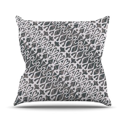 Silver Lace Throw Pillow Size: 20 H x 20 W