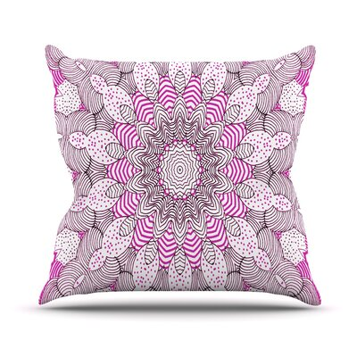Dots and Stripes Throw Pillow Size: 16 H x 16 W, Color: Pink