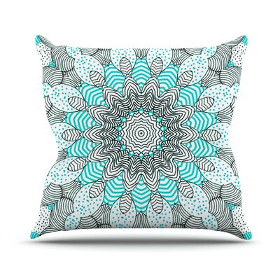 Dots and Stripes Throw Pillow Size: 18 H x 18 W, Color: Mint