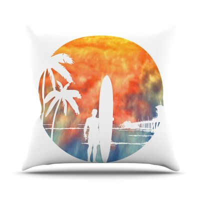 Waiting by Micah Sager Throw Pillow Size: 16 H x 16 W x 3 D