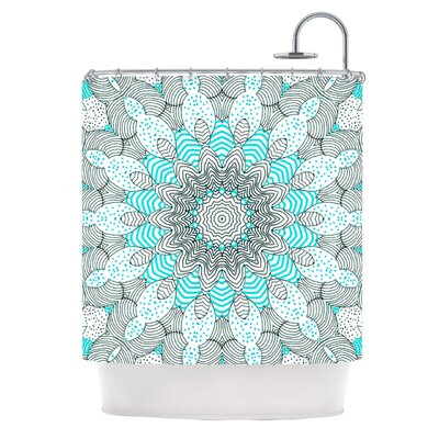 Dots and Stripes Shower Curtain Color: Mint