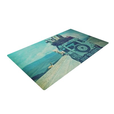 Monika Strigel Never Stop Exploring III Blue Area Rug