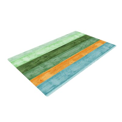Monika Strigel Beach Wood Blue Area Rug Rug Size: 4 x 6