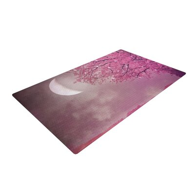Monika Strigel Song of the Spring Bird Pink Area Rug Rug Size: 4 x 6