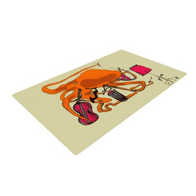 Marianna Tankelevich Playful Octopus Yellow Area Rug Rug Size: 4 x 6