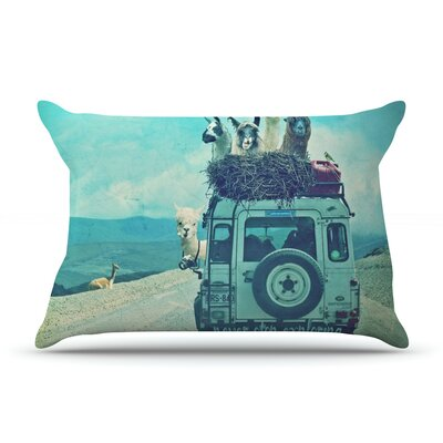 Never Stop Exploring III by Monika Strigel Featherweight Pillow Sham Size: King, Fabric: Woven Polyester