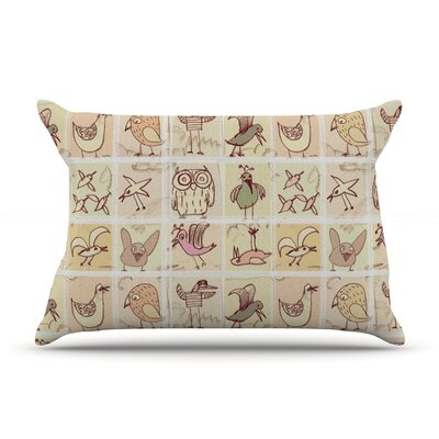 Birdies Pillow Case Size: King