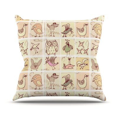 Birdies Throw Pillow Size: 16 H x 16 W