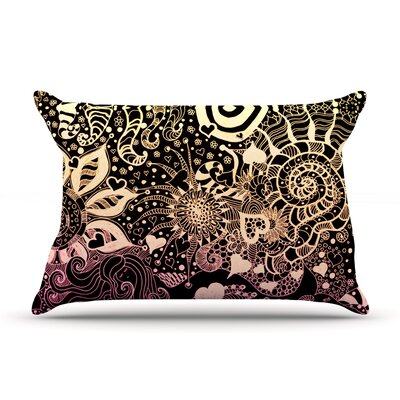 Pillow Case Size: King, Color: Black / Gold