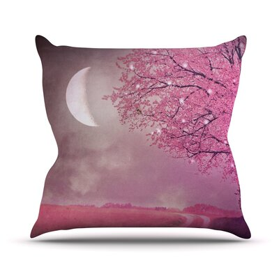 Song of The Springbird Throw Pillow Size: 16 H x 16 W