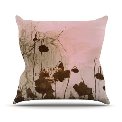 Lotus Dream Throw Pillow Size: 16 H x 16 W