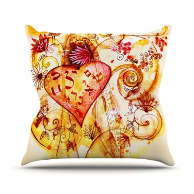 Tree of Love Throw Pillow Size: 16 H x 16 W