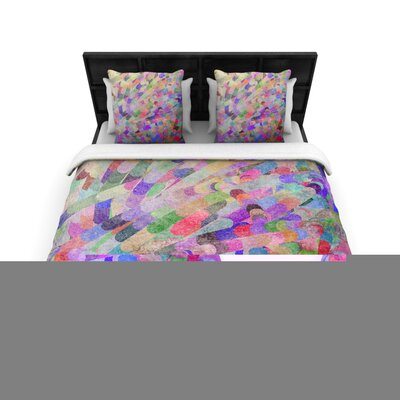 Abstract Rainbow Woven Comforter Duvet Cover Size: Twin