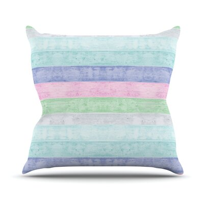 Beach Wood Throw Pillow Size: 26 H x 26 W, Color: Pastel