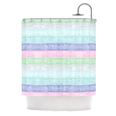Beach Wood Shower Curtain Color: Pastel