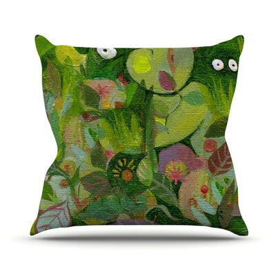Jungle Outdoor Throw Pillow Size: 26 H x 26 W x 4 D