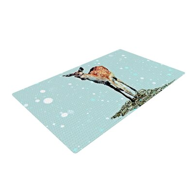 Monika Strigel Fawn Blue/Brown Area Rug Rug Size: 4 x 6
