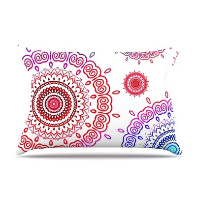 Rainbow Infinity by Monika Strigel Featherweight Pillow Sham Size: Queen, Fabric: Woven Polyester