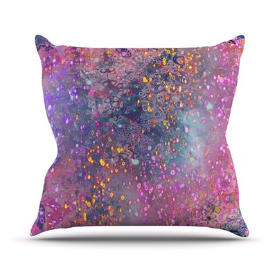 Pink Universe Throw Pillow Size: 16 H x 16 W