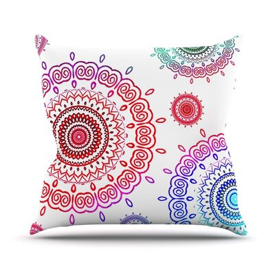 Rainbow Infinity Throw Pillow Size: 26 H x 26 W