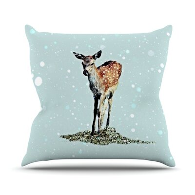 Fawn Throw Pillow Size: 18 H x 18 W