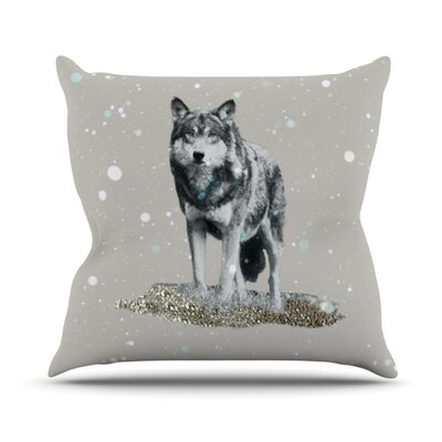 Wolf Throw Pillow Size: 16