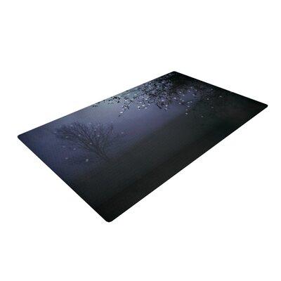 Monika Strigel Song of the Nightbird Black/Purple Area Rug Rug Size: 4 x 6