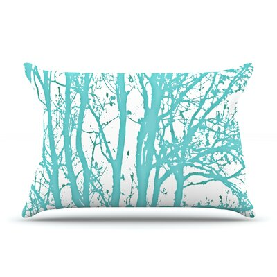 Mint Trees Pillow Case Size: King