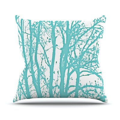 Mint Trees Throw Pillow Size: 18 H x 18 W