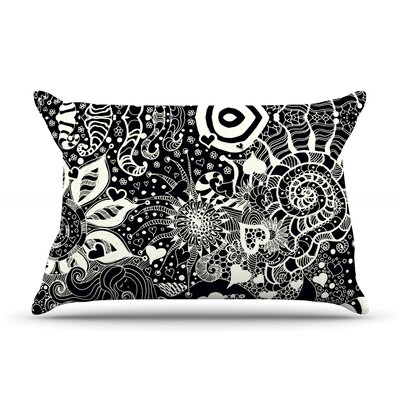 Pillow Case Size: King, Color: Black / White