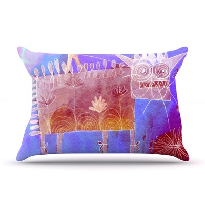 Scary Song About Love by Marianna Tankelevich Featherweight Pillow Sham Size: King, Fabric: Woven Polyester