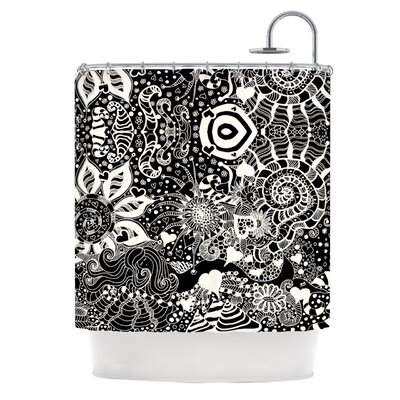 Shower Curtain Color: Black / White