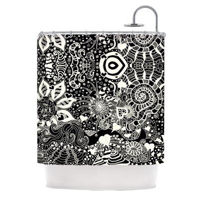 Shower Curtain Color: Black / White