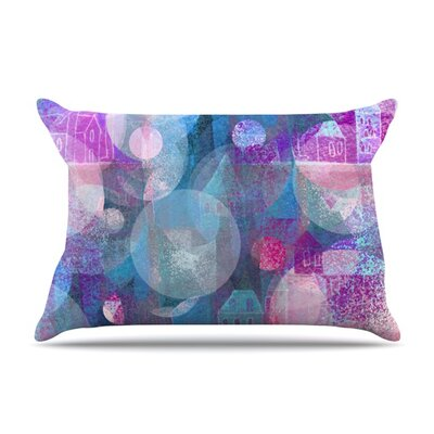 Dream Houses by Marianna Tankelevich Featherweight Pillow Sham Size: Queen, Fabric: Woven Polyester