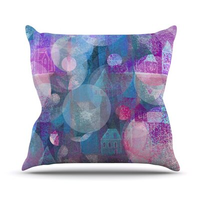 Dream Houses Throw Pillow Size: 18 H x 18 W