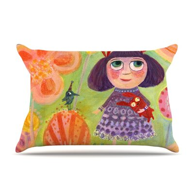Flowerland by Marianna Tankelevich Featherweight Pillow Sham Size: Queen, Fabric: Woven Polyester