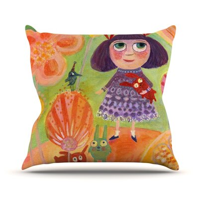 Flowerland Throw Pillow Size: 16 H x 16 W