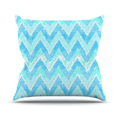 Mint Snow Chevron by Marianna Tankelevich Chevron Throw Pillow Size: 20 H x 20 W x 4 D