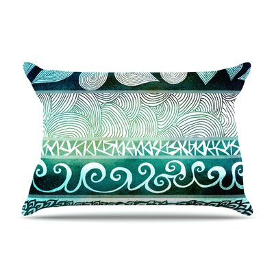 Dreamy Tribal by Pom Graphic Design Featherweight Pillow Sham Size: King, Fabric: Woven Polyester
