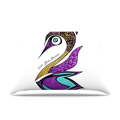 Dreams Swan by Pom Graphic Design Featherweight Pillow Sham Size: Queen, Fabric: Woven Polyester