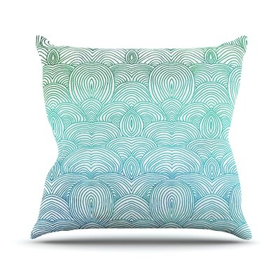 Clouds In The Sky Throw Pillow Size: 18 H x 18 W