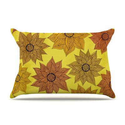 Its Raining Flowers by Pom Graphic Design Featherweight Pillow Sham Size: King, Fabric: Woven Polyester